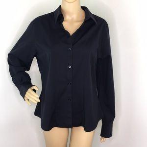 Foxcroft Black Button Down Shirt